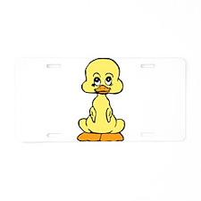 Huggable Baby Duck Aluminum License Plate