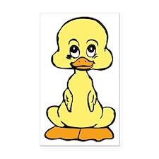 Huggable Baby Duck Rectangle Car Magnet