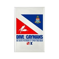 Dive The Caymans Rectangle Magnet