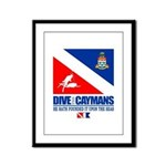 Dive The Caymans Framed Panel Print