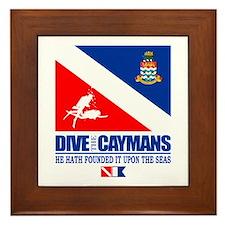 Dive The Caymans Framed Tile