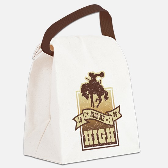 Ride Me High Canvas Lunch Bag