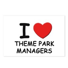 I love theme park managers Postcards (Package of 8