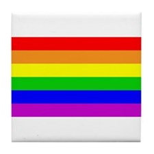 Rainbow Love Tile Coaster