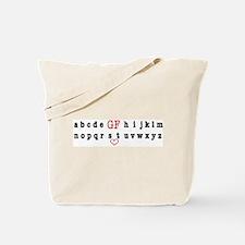 Alphabet GF! Tote Bag