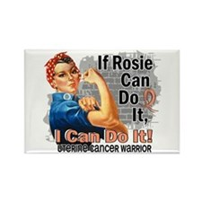 If Rosie Can Do It Uterine Cancer Rectangle Magnet