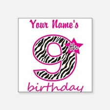 9th Birthday - Personalized Sticker
