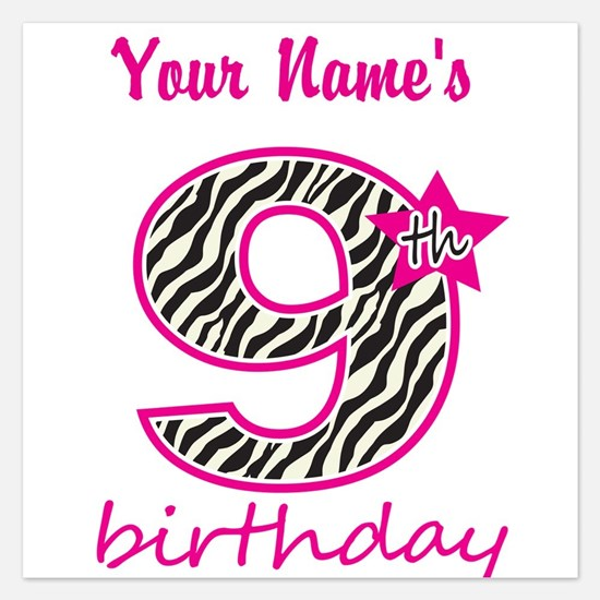 9th Birthday - Personalized Flat Cards
