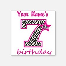 7th Birthday - Personalized Sticker