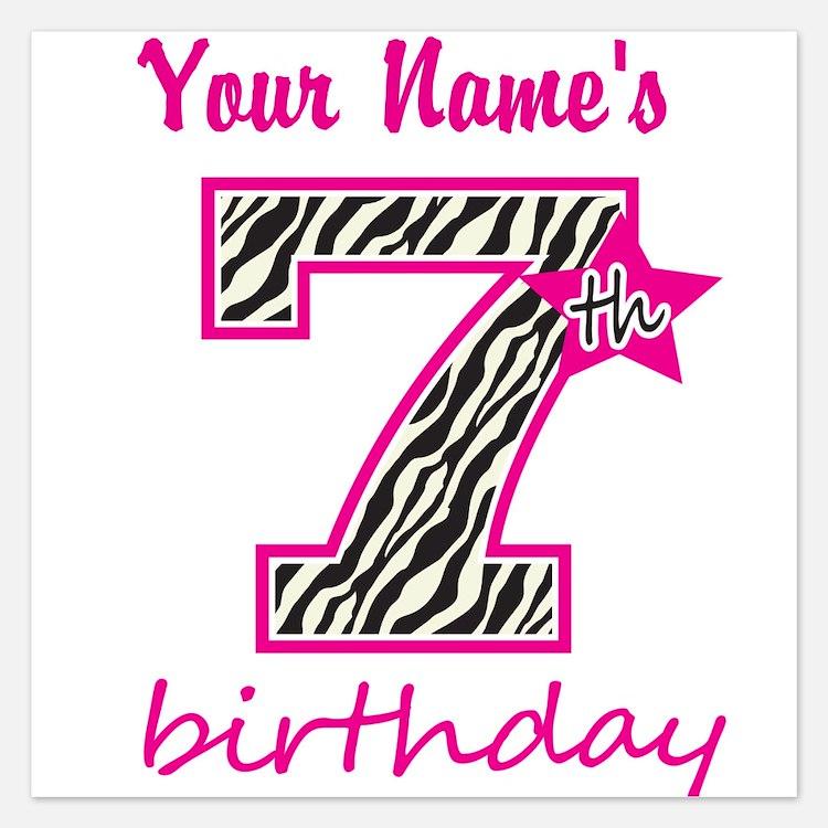 Invitations for 7 Year Old Birthday   7 Year Old Birthday ...