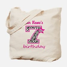7th Birthday - Personalized Tote Bag