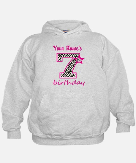 7th Birthday - Personalized Hoodie