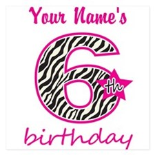 6th Birthday - Personalized Flat Cards