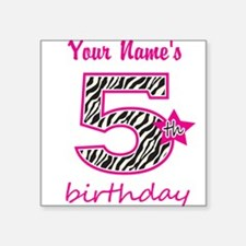 5th Birthday - Personalized Sticker