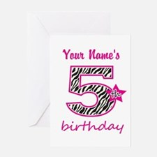 5th Birthday - Personalized Greeting Card