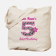 5th Birthday - Personalized Tote Bag