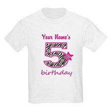 5th Birthday - Personalized T-Shirt
