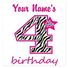 4th Birthday - Personalized Flat Cards