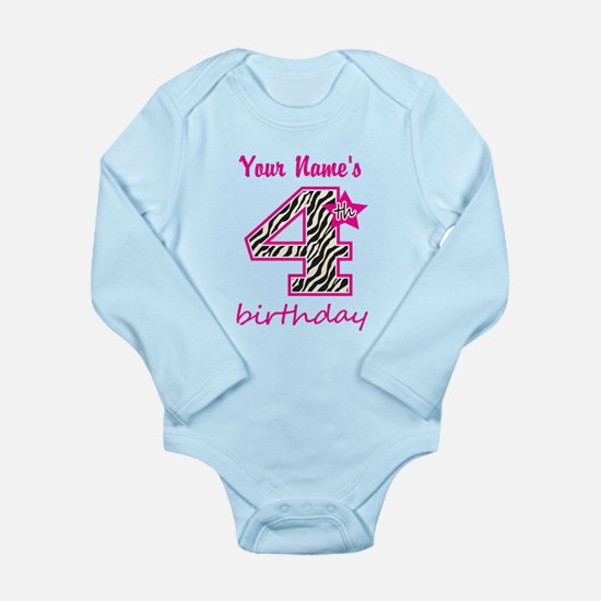 4th Birthday - Personalized Body Suit