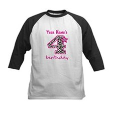 4th Birthday - Personalized Baseball Jersey