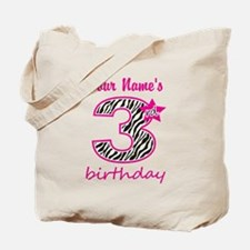 3rd Birthday - Personalized Tote Bag