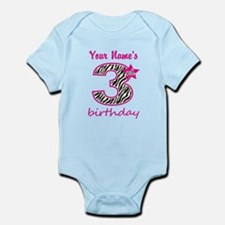 3rd Birthday - Personalized Body Suit