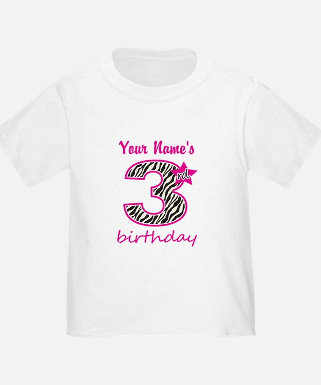 3rd Birthday - Personalized T-Shirt