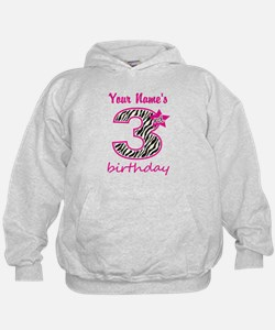 3rd Birthday - Personalized Hoodie
