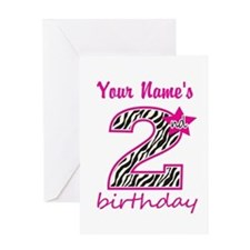 2nd Birthday - Personalized Greeting Card