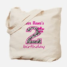 2nd Birthday - Personalized Tote Bag