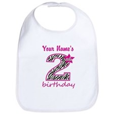 2nd Birthday - Personalized Bib