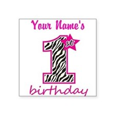 1st Birthday - Personalized Sticker