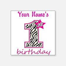 1st Birthday - Personalized Sticker