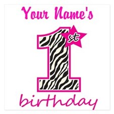 1st Birthday - Personalized Flat Cards