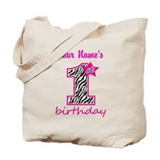 1st Birthday - Personalized Tote Bag