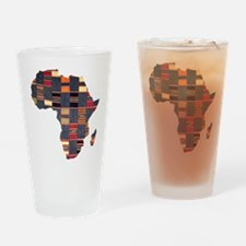 Ethnic African Tapestry Drinking Glass