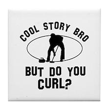 Curl designs Tile Coaster