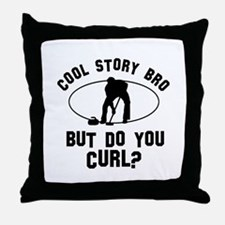 Curl designs Throw Pillow