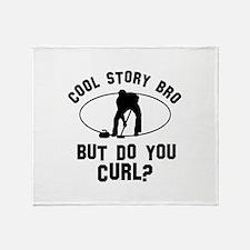 Curl designs Throw Blanket