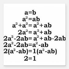 """math genius Square Car Magnet 3"""" x 3"""""""