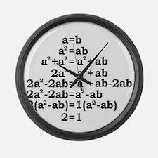math genius Large Wall Clock