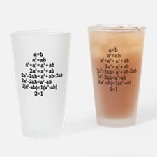 math genius Drinking Glass