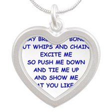 s and m joke Necklaces
