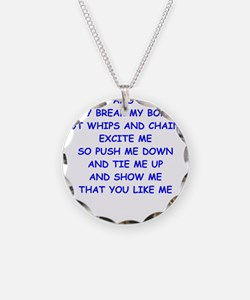 s and m joke Necklace