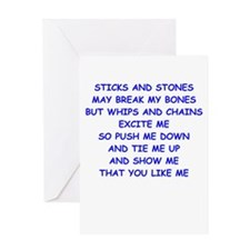 s and m joke Greeting Card