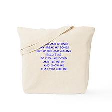 s and m joke Tote Bag