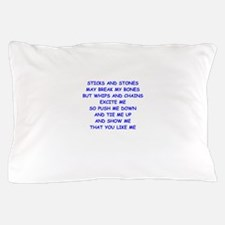s and m joke Pillow Case
