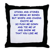 s and m joke Throw Pillow