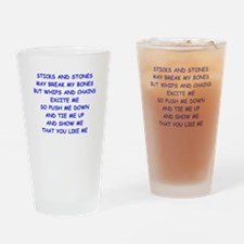 s and m joke Drinking Glass