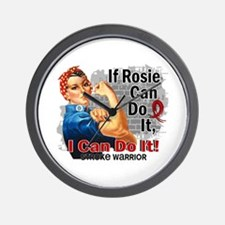 If Rosie Can Do It Stroke Wall Clock